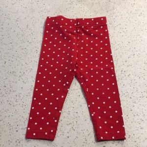 3/$20 Red Spotted Joe Fresh Leggings